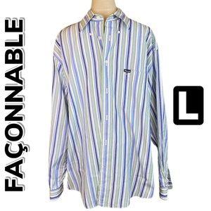Façonnable Button Down Striped Shirt (L)